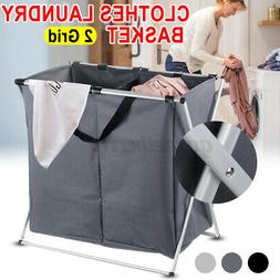 1/2 Dirty Clothes Storage Basket Home Laundry Hamper Sorter