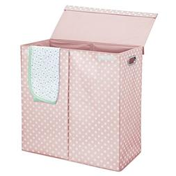 mDesign Extra Large Divided Laundry Hamper Basket with Remov