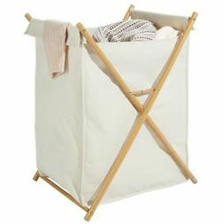 mDesign Laundry Hamper, Portable/Collapsible Fabric Bag - Cr