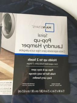 Dorm Room Pop Up Collapsible Mesh Laundry Hamper Charcoal