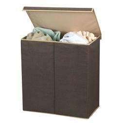 Double Laundry Hamper Sorter Clothes Storage Basket Bag Bin