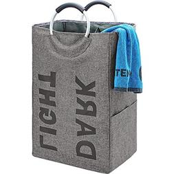 double laundry hamper with handle self standing