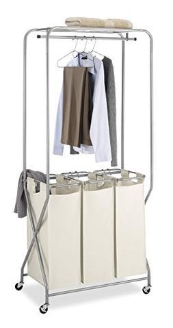 Whitmor® EasyLift Triple Laundry Center