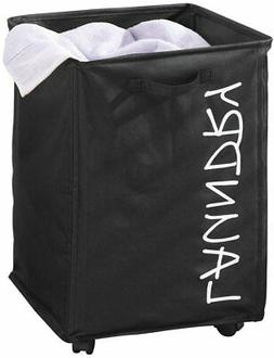 mDesign Fabric Laundry Hamper Basket with Handles, Drawstrin