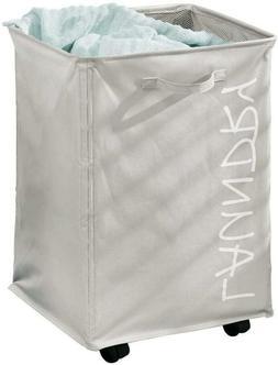 Mdesign Fabric Laundry Hamper Basket With Handles, Drawstrin