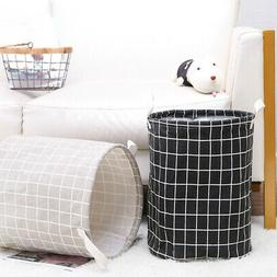 Foldable Canvas Laundry Hamper Clothes Basket Toys Storage B