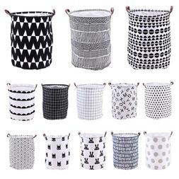 Foldable Large Canvas Washing Clothes Laundry Basket Bag Toy