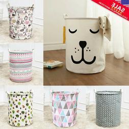 Foldable Large Storage Laundry Hamper Clothes Basket Cotton