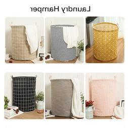 Foldable Large Storage Laundry Hamper Clothes Basket Canvas