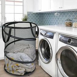 Foldable Large Storage Laundry Hamper Clothes Basket Nylon L