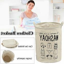 Foldable Large Storage Laundry Hamper Dirty Clothes Basket C