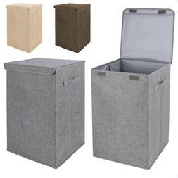 Foldable Laundry Hamper Bathroom Bedroom Clothes Organizer w