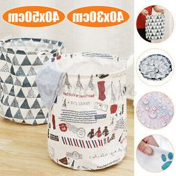 Foldable Laundry Hamper Clothes Basket Cotton Waterproof Was