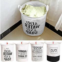 foldable laundry hamper cotton basket bag dirty