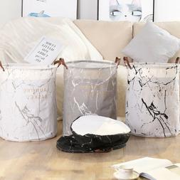 Foldable Laundry Washing Basket Fabric Bag Hamper Dirty Clot