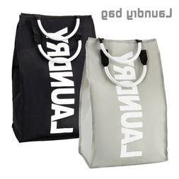 Foldable Washing Laundry Basket Hamper Cotton Bag Clothes St