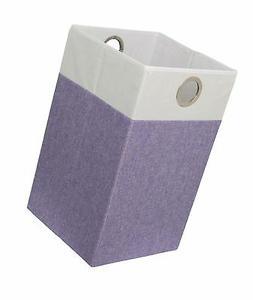 BirdRock Home Folding Cloth Laundry Hamper with Handles   Di