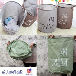 Folding Dirty Clothes Toy Canvas Laundry Hamper Basket Stora