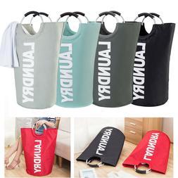 Foldable Cotton Linen Washing Clothes Laundry Basket Sorter
