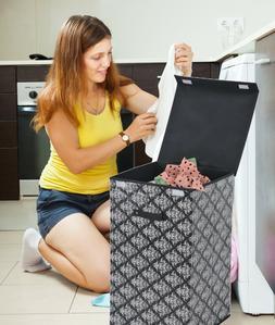 FW2771 Uniware High Quality  PEVA Fabric Laundry Hamper
