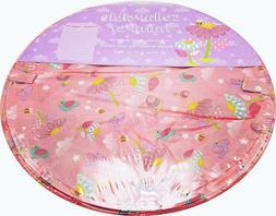 Girls Pink Toy Storage Bin Laundry Hamper Bees Birds Flowers