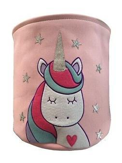 Glitter Unicorn Kids 3D Laundry Basket Hamper Storage Bag Pi