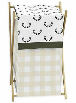 Green Beige Rustic Deer Buffalo Plaid Woodland Camo Baby Clo