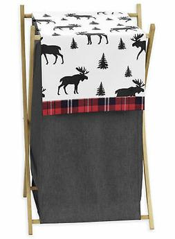 Sweet Jojo Designs Grey, Black and Red Woodland Plaid and Mo