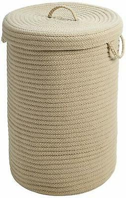 Simply Home Solid Hamper with Lid, 16 by 16 by 24-Inch, Soli
