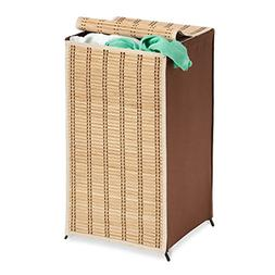 Honey Can Do HMP-01619 Bamboo Wicker Hamper with Lid