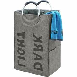 HOMEST Double Laundry Hamper with Handle Self-Standing Moder