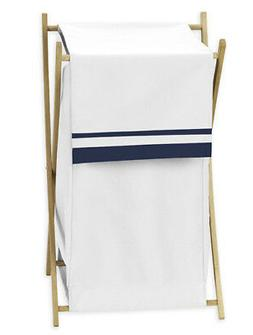 Sweet Jojo Designs Kid Baby Clothes Laundry Hamper for White