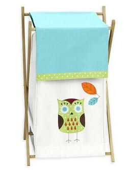 Sweet Jojo Designs Kids Baby Clothes Laundry Hamper for Hoot