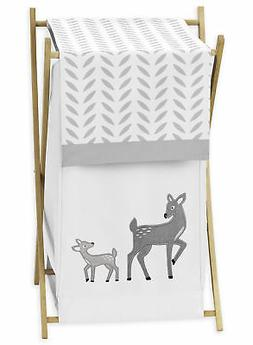 Kids Baby Clothes Laundry Hamper For Sweet Jojo White Grey L