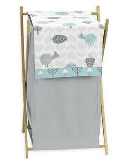 Kids Baby Clothes Laundry Hamper For Turquoise Blue Gray Ear