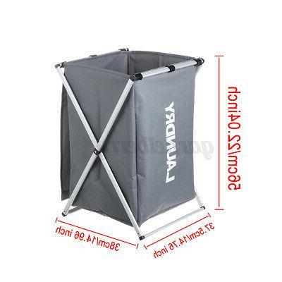 1/2 Clothes Basket Hamper Sorter Foldable