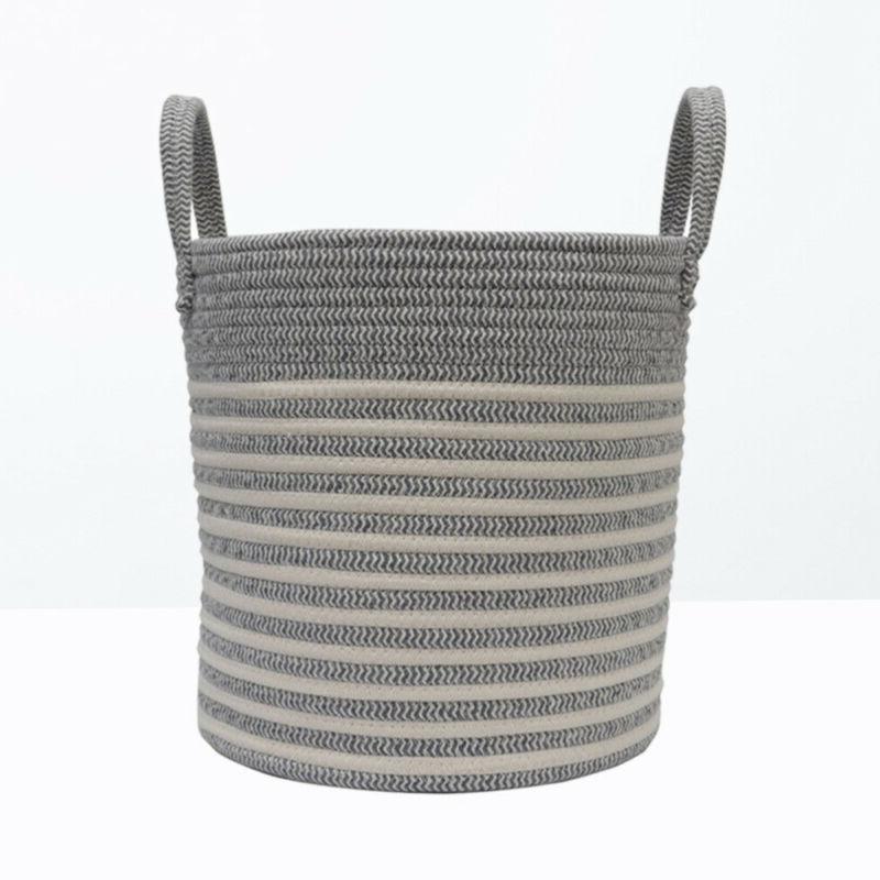 1 pc Laundry Hamper Large Woven Rope Storage Basket Toy Bins