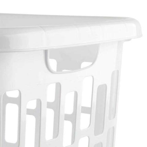 Sterilite 1231 Laundry Hamper Bushel / Plastic, White