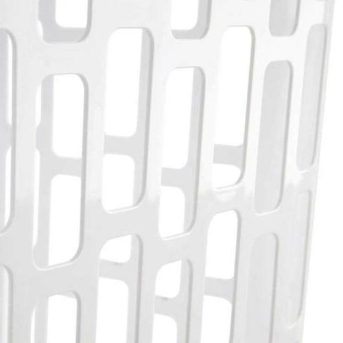Sterilite Easy Laundry Hamper 2 Bushel 71 Plastic, White