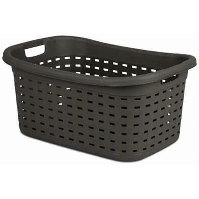 "Sterilite 12756P06 Weave Laundry Basket, Espresso Color, 26"""