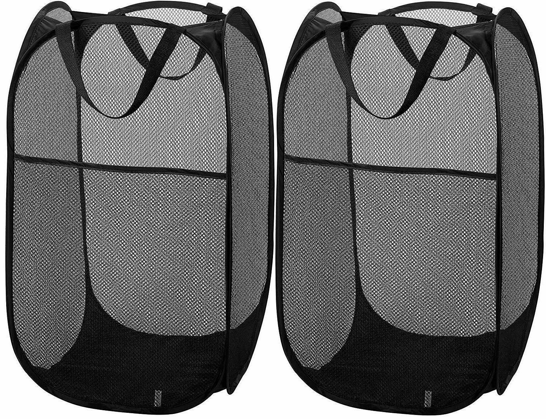 2pc mesh foldable laundry hamper portable durable