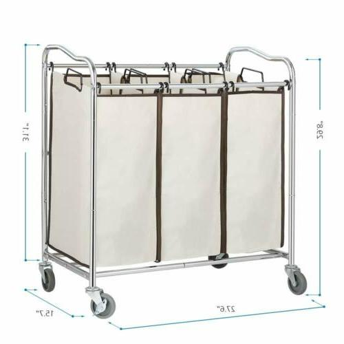 Bathroom Hamper Heavy Duty Basket Wheels