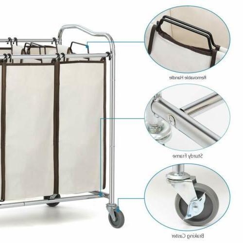 Bathroom Laundry Heavy Duty Basket Rolling Wheels