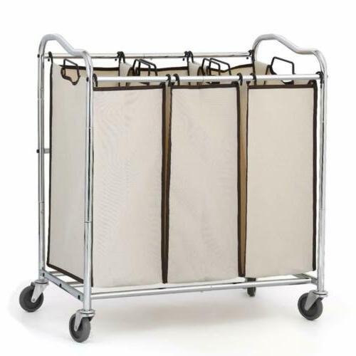 Bathroom Laundry Heavy Basket Rolling Wheels