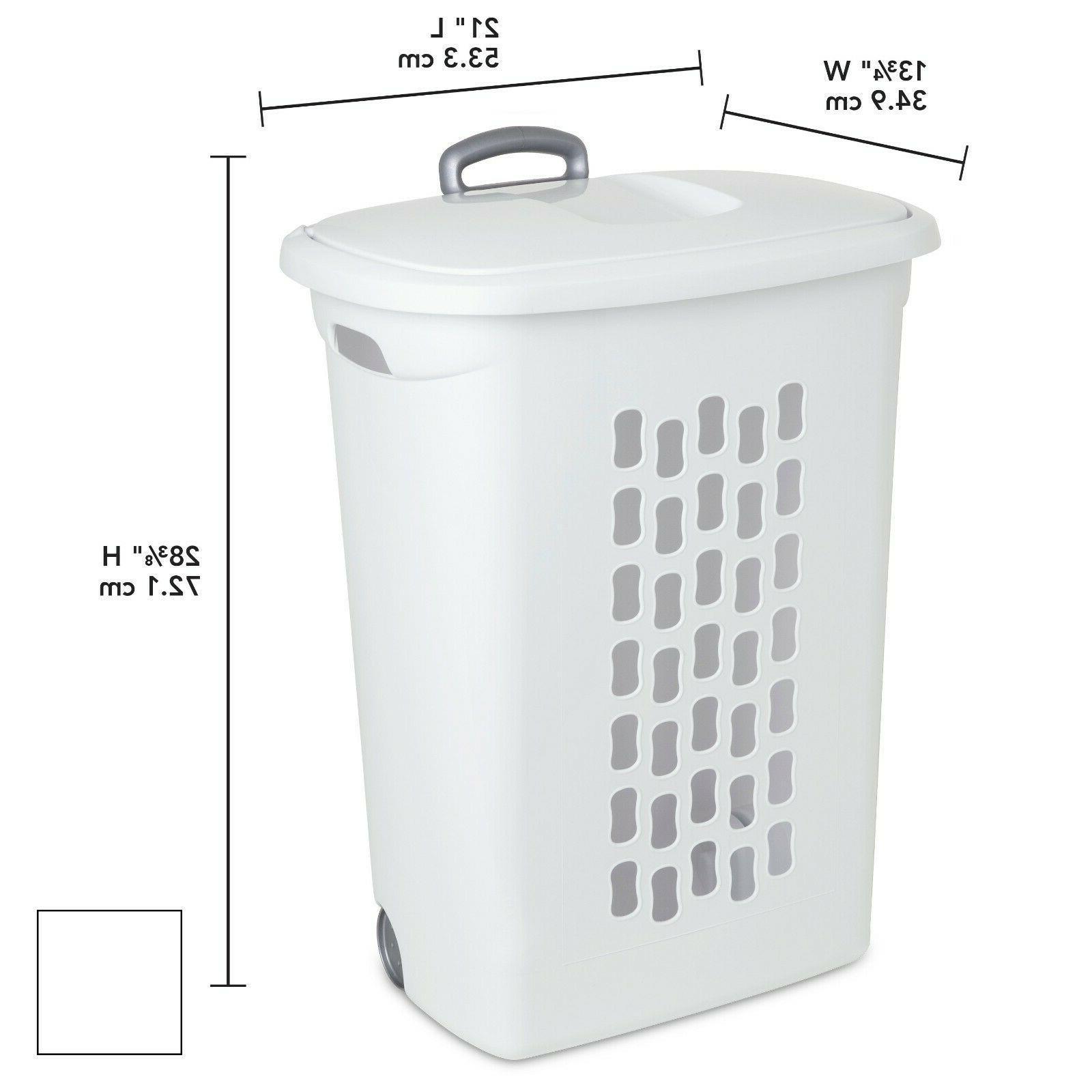 3 PACK Laundry Hamper Rolling Basket Clothes Storage