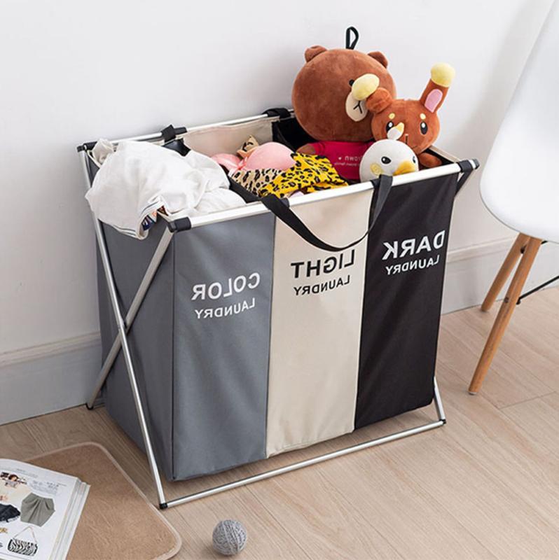 3 Basket Storage Laundry Hamper