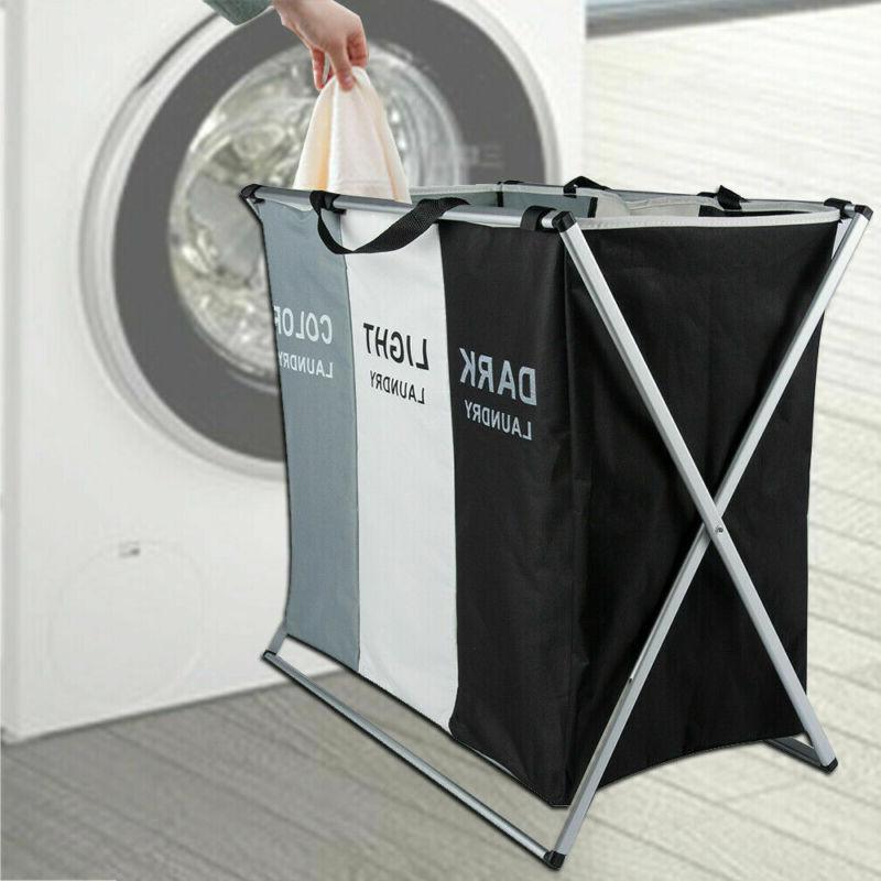 3 Section Foldable Basket Organizer Storage US