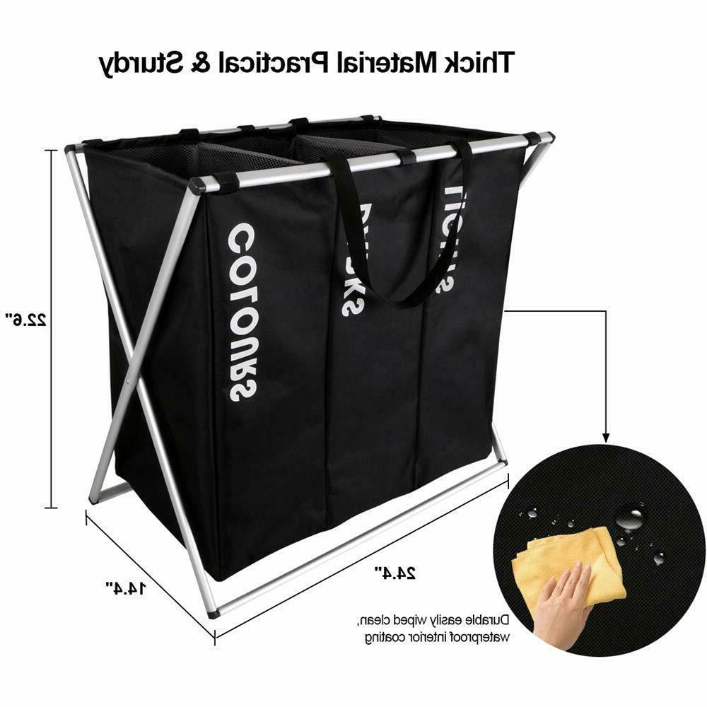 3 Laundry Hamper Clothes Storage Organizer