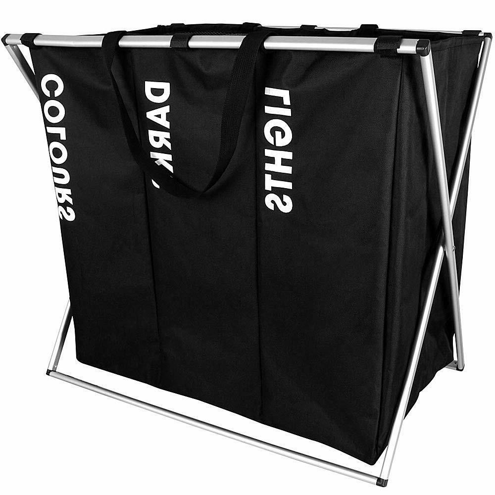3 Section Laundry Hamper Basket Organizer Bags