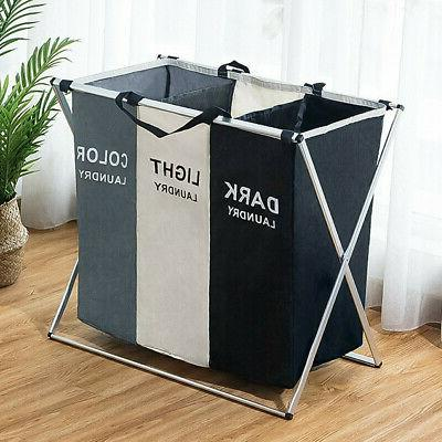3 Sections Laundry Dirty Storage Bag